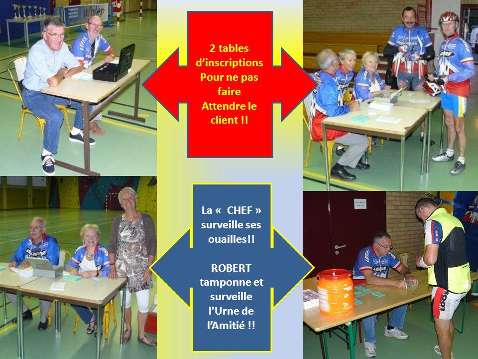 2 tables d'inscriptions Pour ne pas faire Attendre le client !!