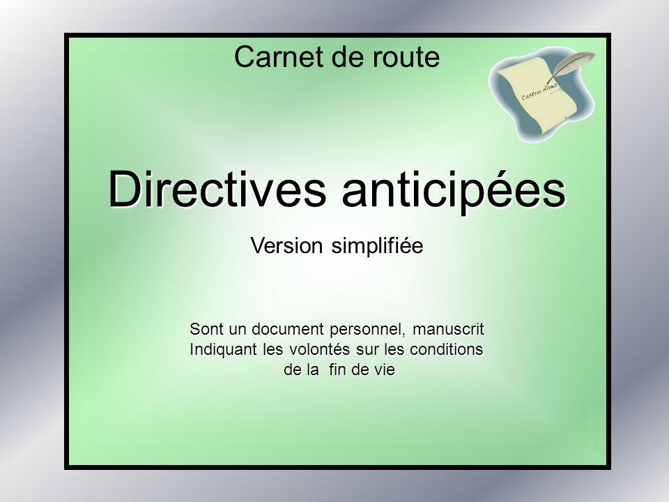 Directives anticipées