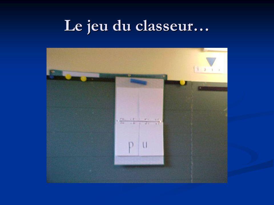 Le jeu du classeur…