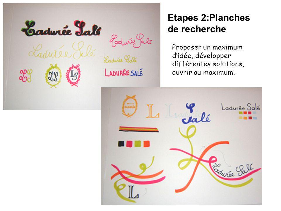 Etapes 2:Planches de recherche