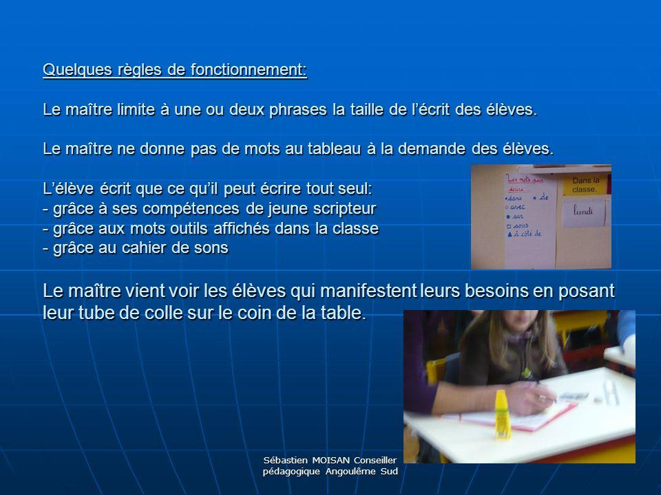 Sébastien MOISAN Conseiller pédagogique Angoulême Sud