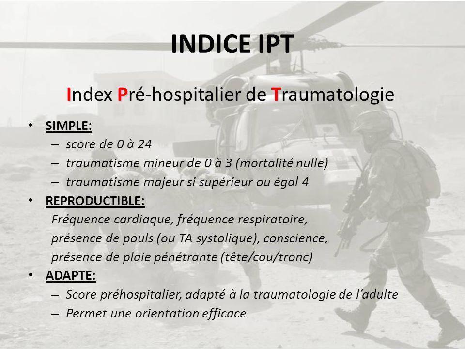 Index Pré-hospitalier de Traumatologie