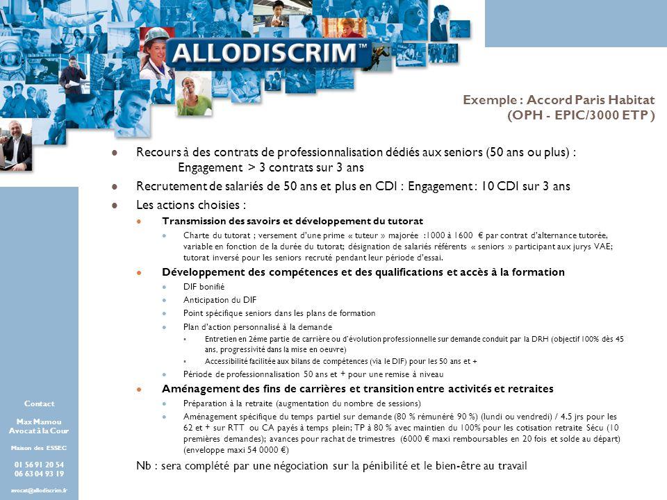 Exemple : Accord Paris Habitat (OPH - EPIC/3000 ETP )