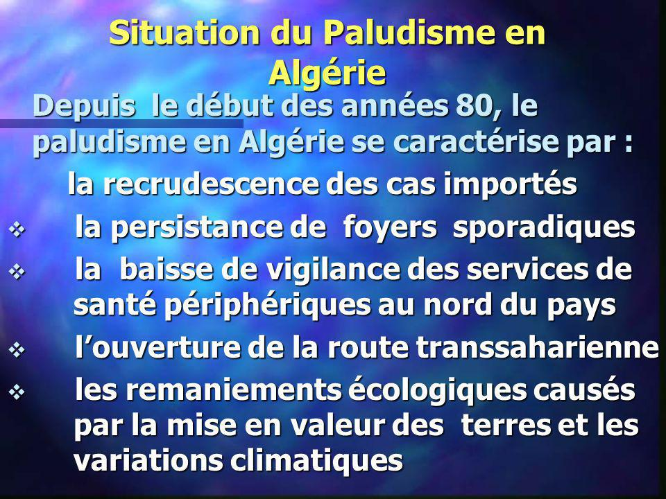 Situation du Paludisme en Algérie