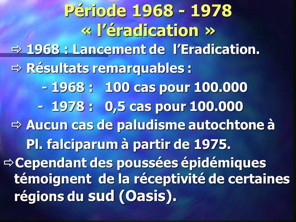 Période 1968 - 1978 « l'éradication »