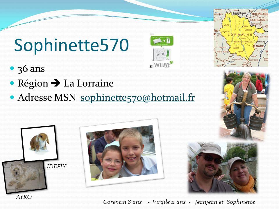 Sophinette570 36 ans Région  La Lorraine