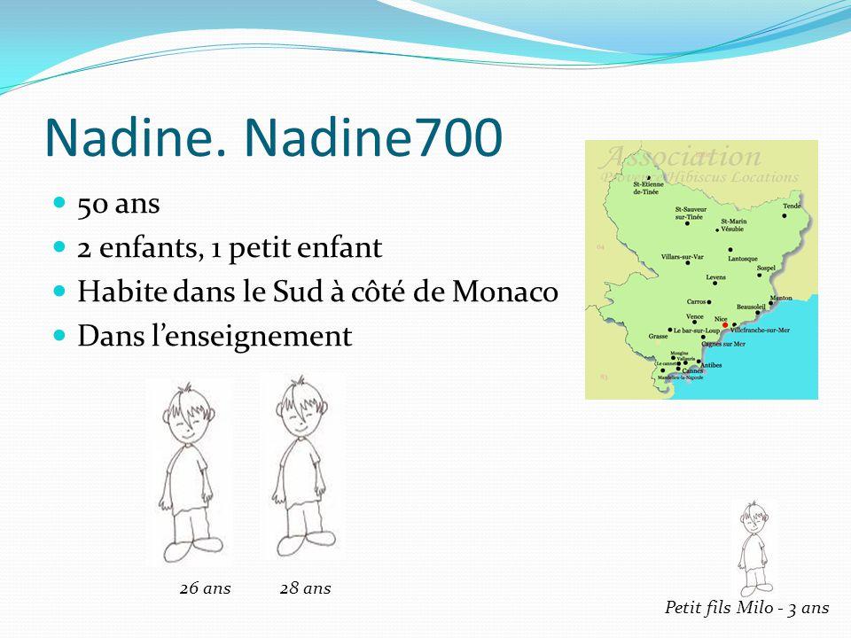 Nadine. Nadine700 50 ans 2 enfants, 1 petit enfant