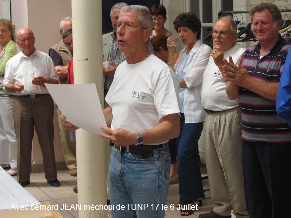 Avec bernard JEAN méchoui de l'UNP 17 le 6 Juillet