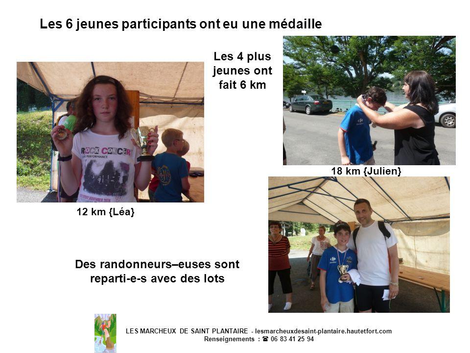 Les 6 jeunes participants ont eu une médaille