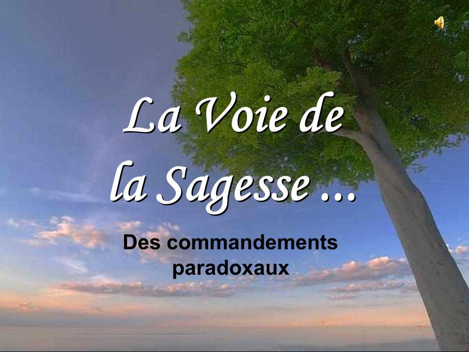Des commandements paradoxaux