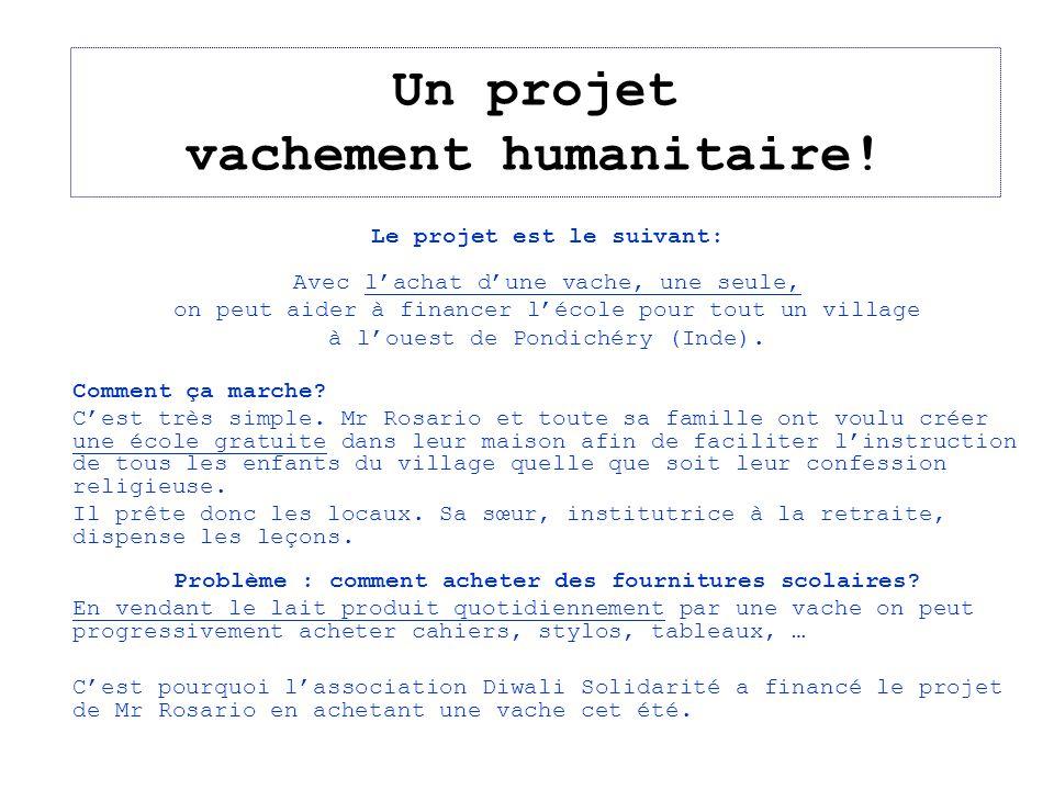 Un projet vachement humanitaire!