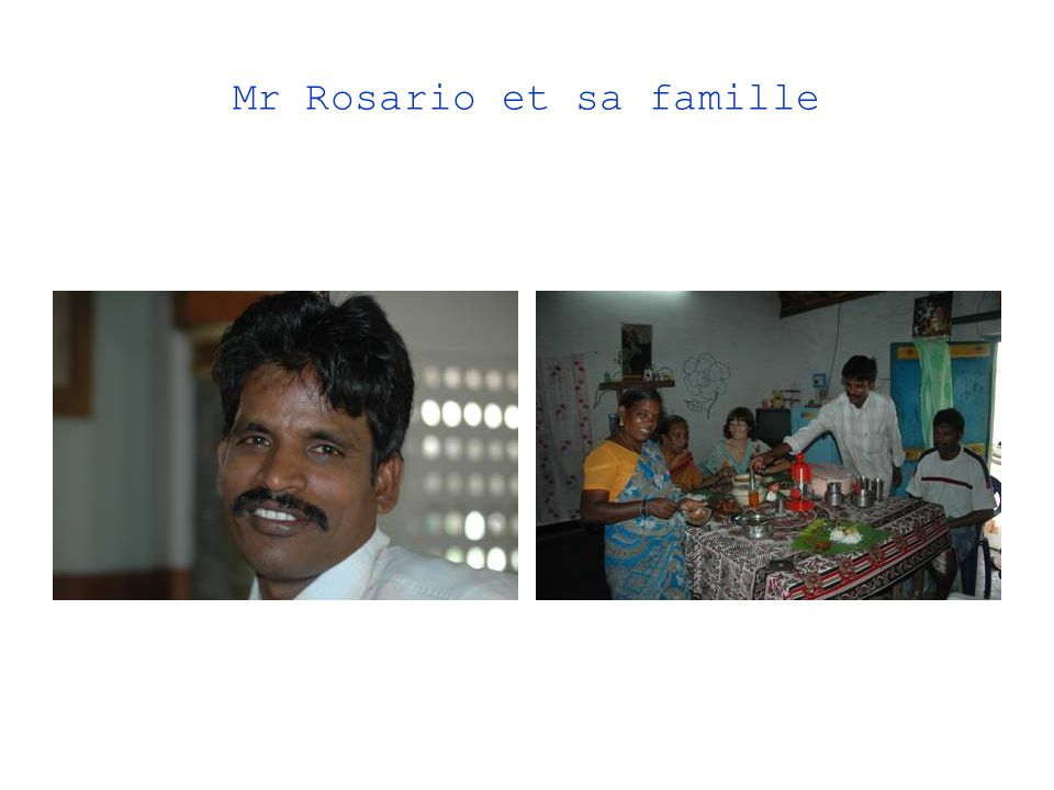 Mr Rosario et sa famille