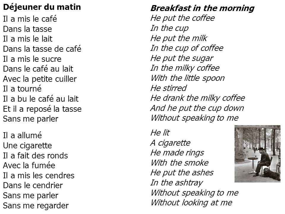 Déjeuner du matin