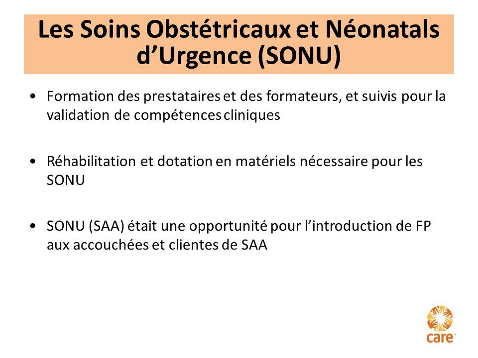 Les Soins Obstétricaux et Néonatals d'Urgence (SONU)