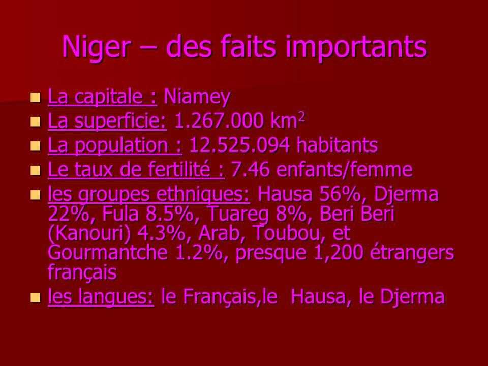 Niger – des faits importants