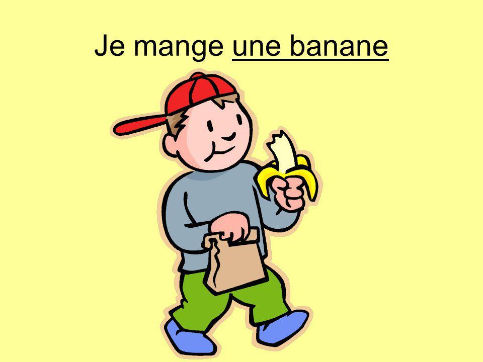 Je mange une banane