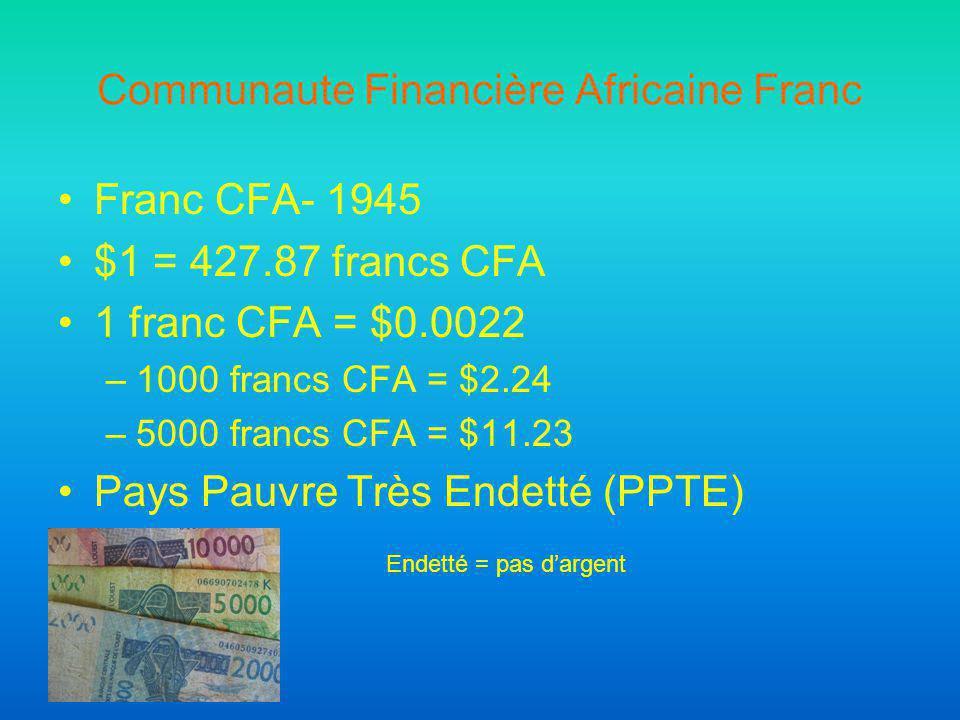 Communaute Financière Africaine Franc
