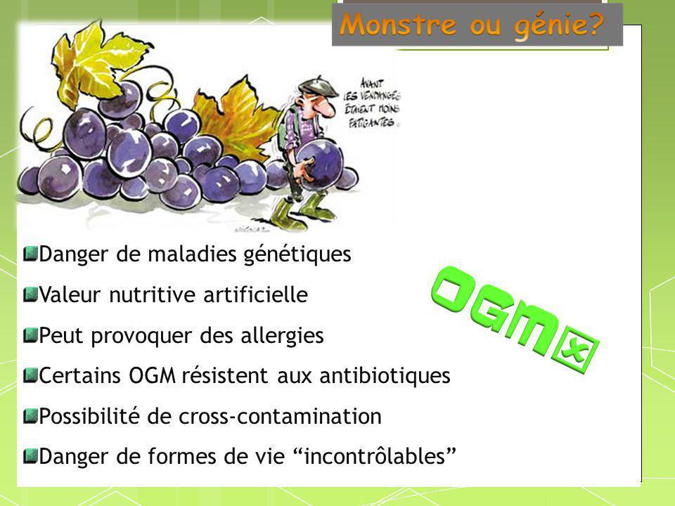 Danger de maladies génétiques