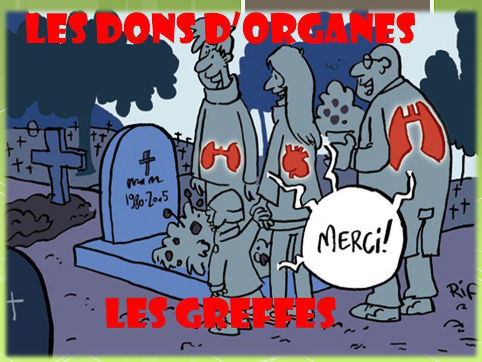 Les dons d'organes les greffes