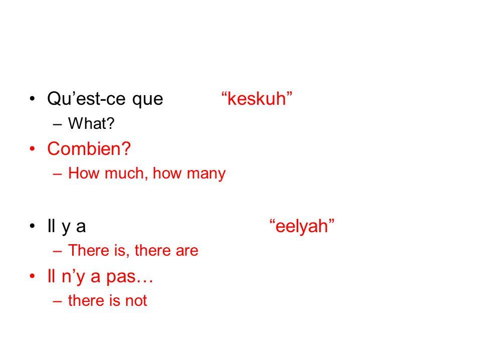 Qu'est-ce que keskuh Combien