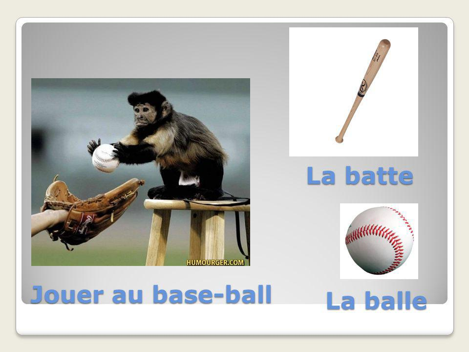 La batte Jouer au base-ball La balle
