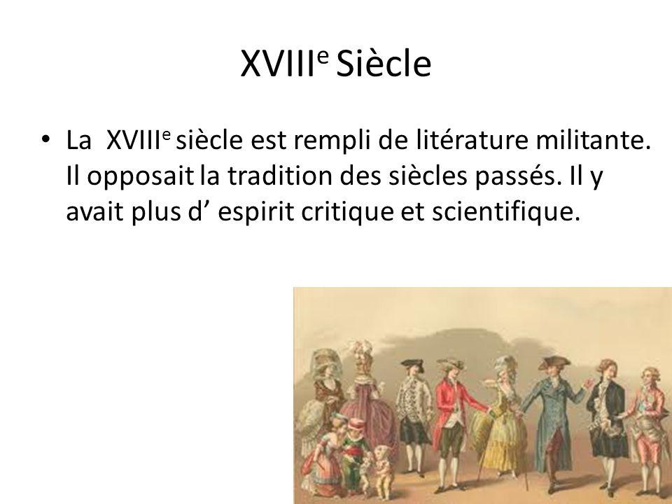 XVIIIe Siècle