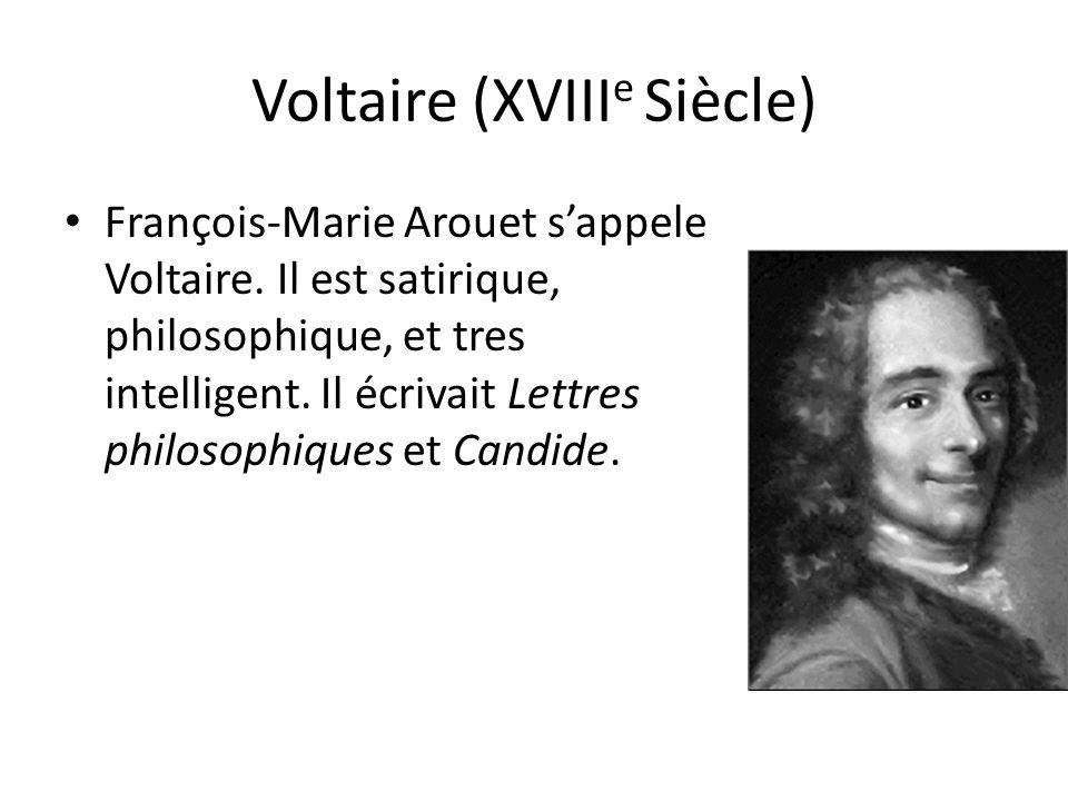 Voltaire (XVIIIe Siècle)
