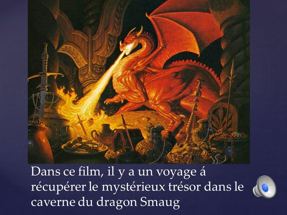 Dans ce film, il y a un voyage á récupérer le mystérieux trésor dans le caverne du dragon Smaug