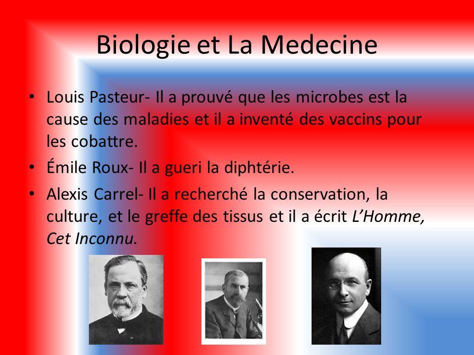 Biologie et La M edecine