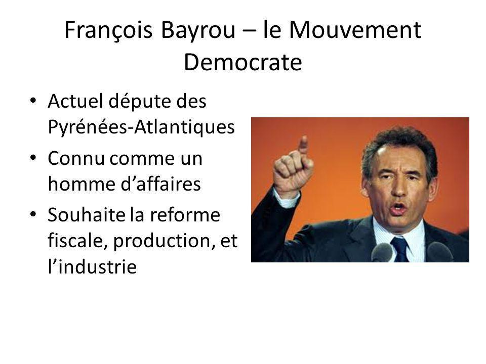 François Bayrou – le Mouvement Democrate