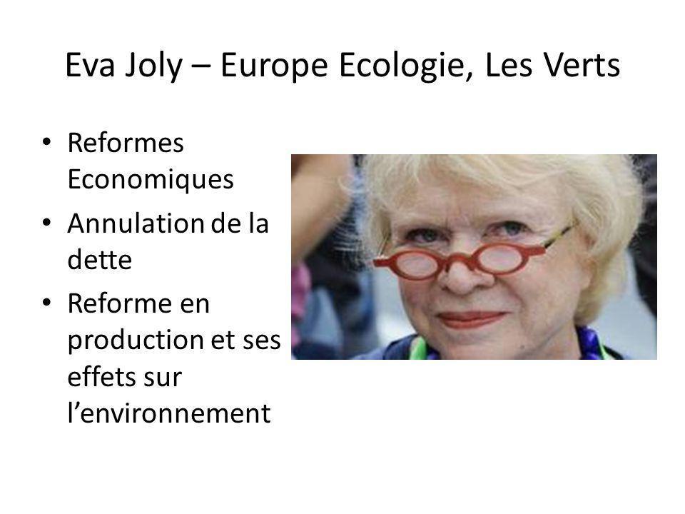 Eva Joly – Europe Ecologie, Les Verts