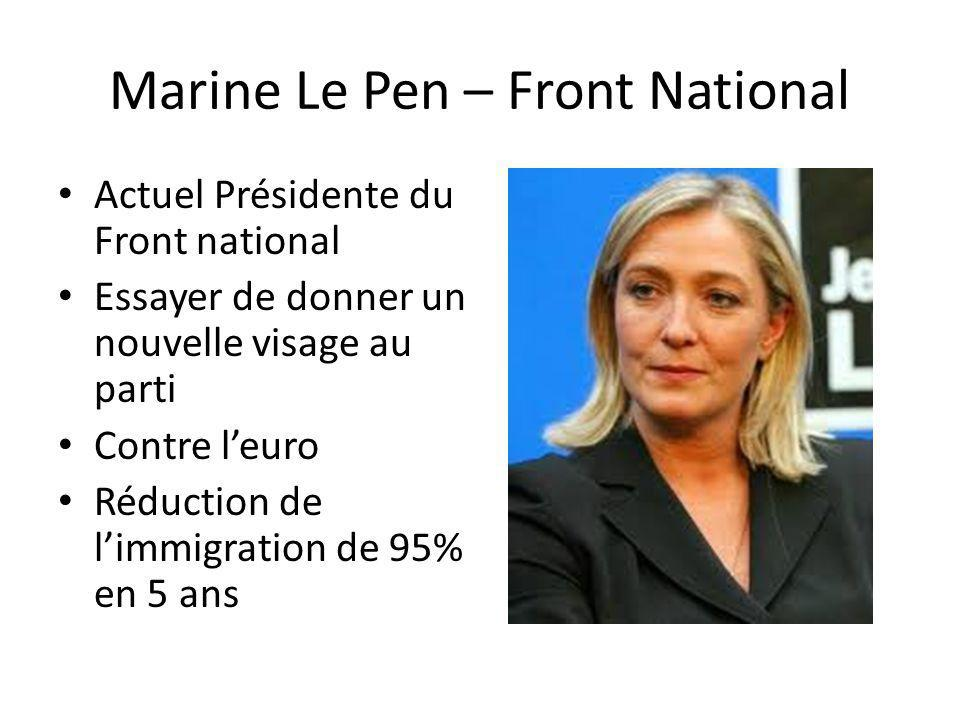 Marine Le Pen – Front National