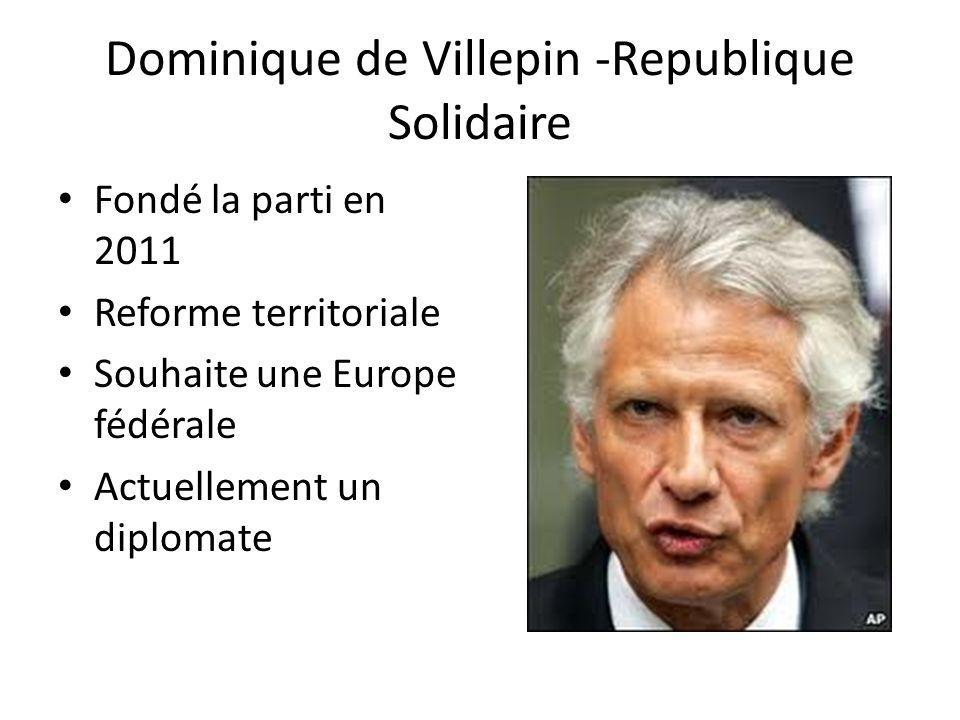 Dominique de Villepin -Republique Solidaire