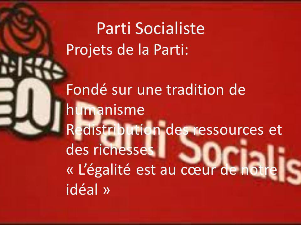 Parti Socialiste Projets de la Parti: