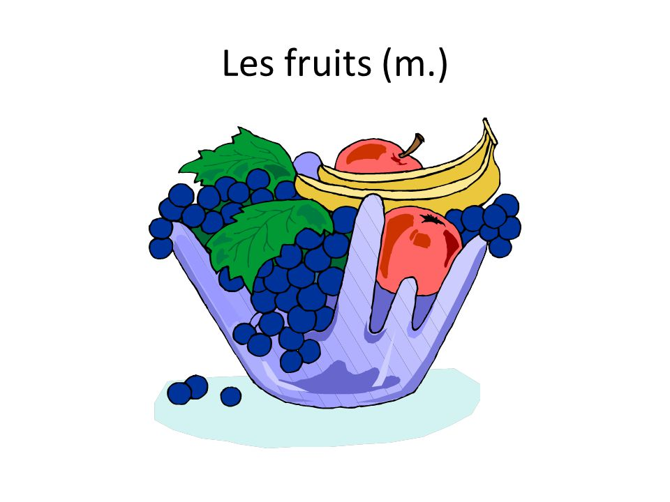 Les fruits (m.)