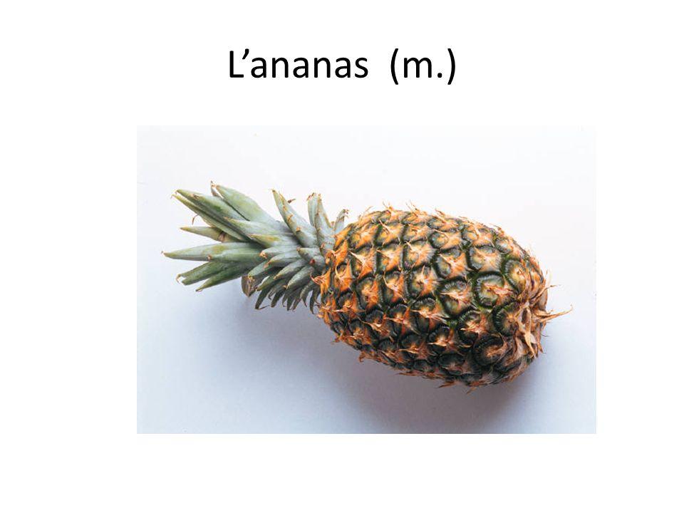 L'ananas (m.)