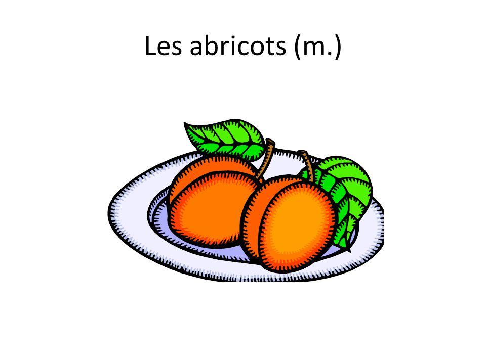 Les abricots (m.)