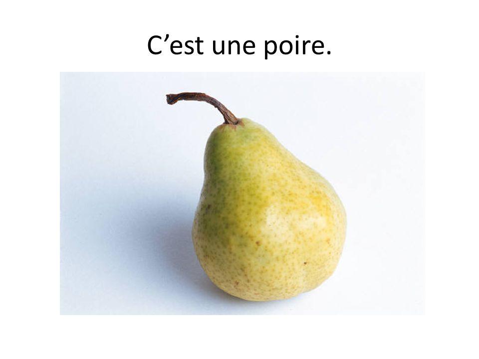 C'est une poire.