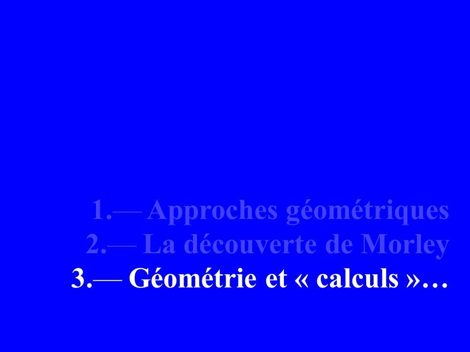 1.— Approches géométriques