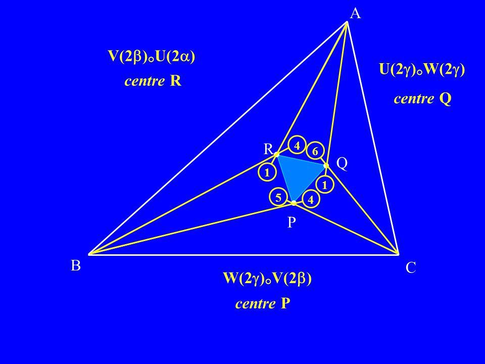 A V(2)°U(2) U(2)°W(2) centre R centre Q R Q P B C W(2)°V(2)