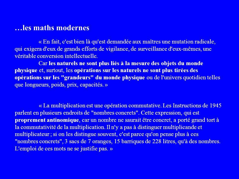 …les maths modernes