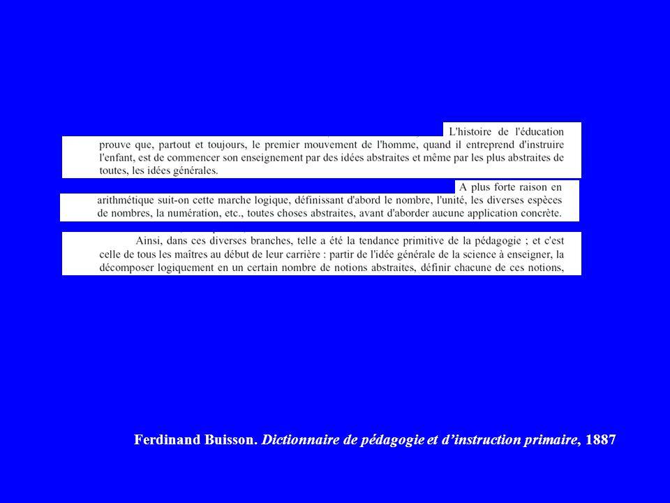 Ferdinand Buisson. Dictionnaire de pédagogie et d'instruction primaire, 1887