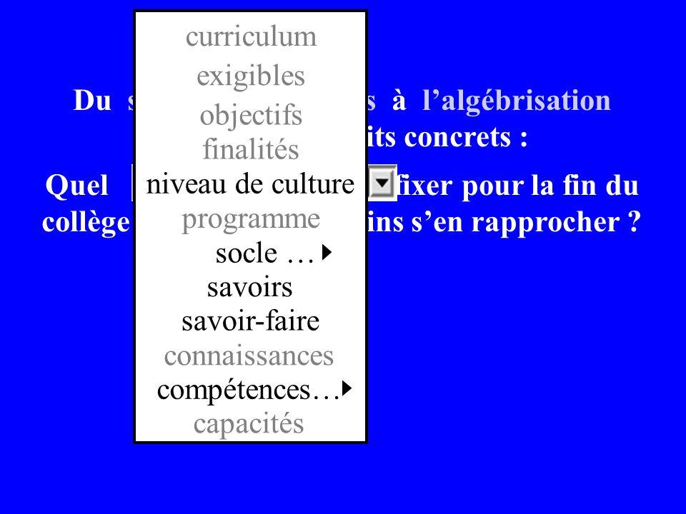programme savoirs. savoir-faire. connaissances. compétences… niveau de culture. finalités. objectifs.