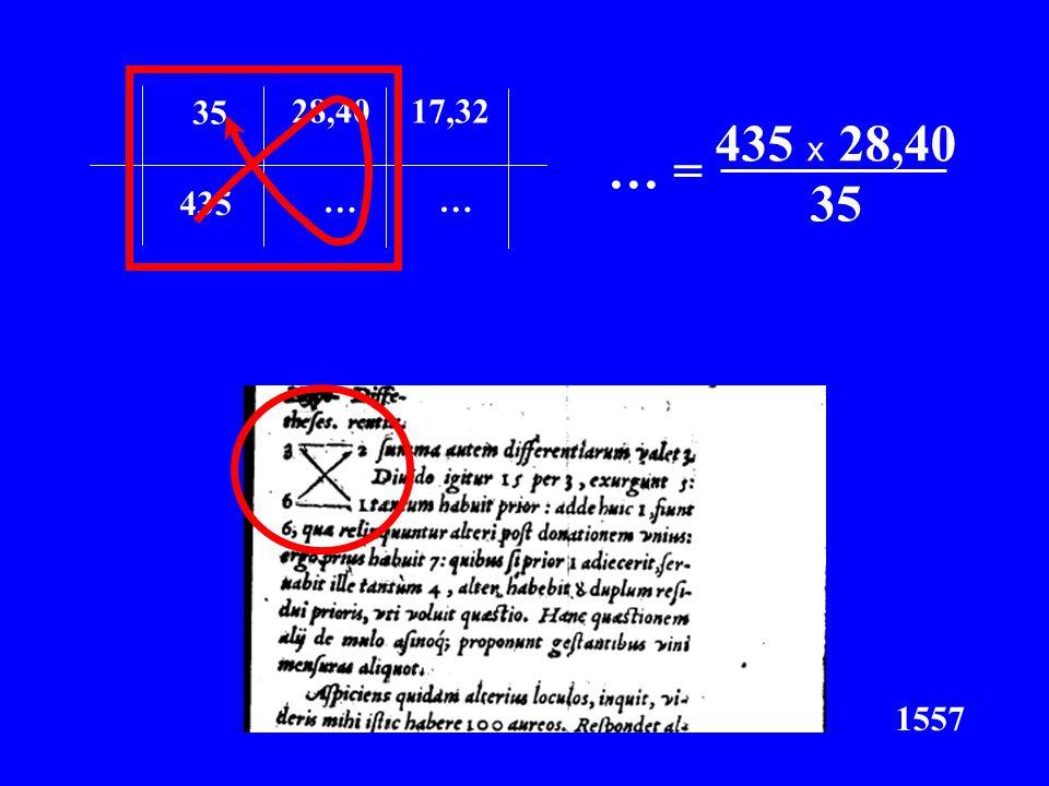 35 435 28,40 … 17,32 x C = 435 x 28,40 x… = 35 … 1557