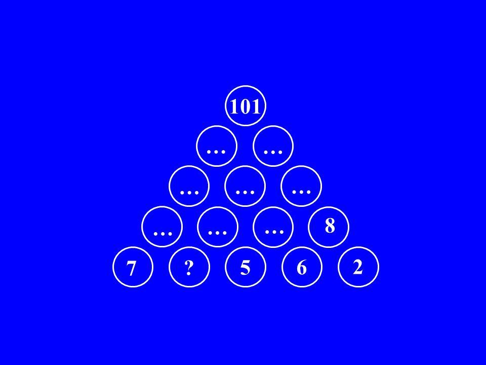 101 … … … … … … … … 8 7 5 6 2