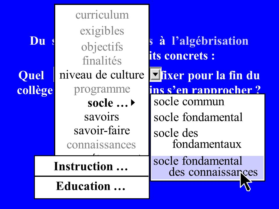 curriculum exigibles.
