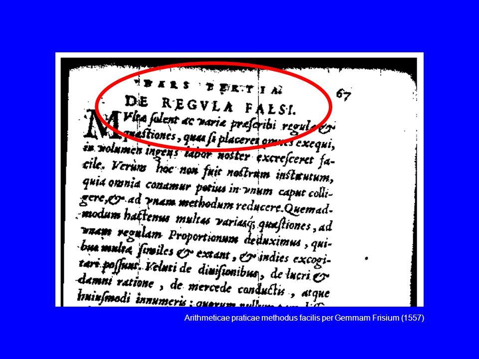 Arithmeticae praticae methodus facilis per Gemmam Frisium (1557)