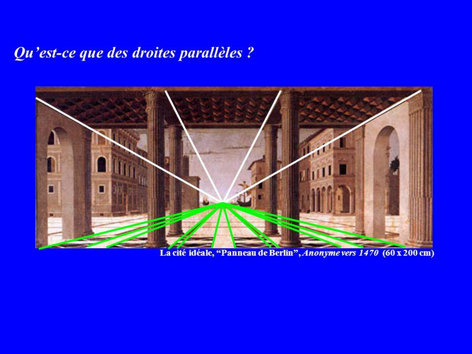 Qu'est-ce que des droites parallèles