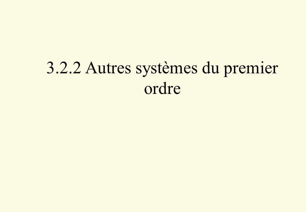 3.2.2 Autres systèmes du premier ordre