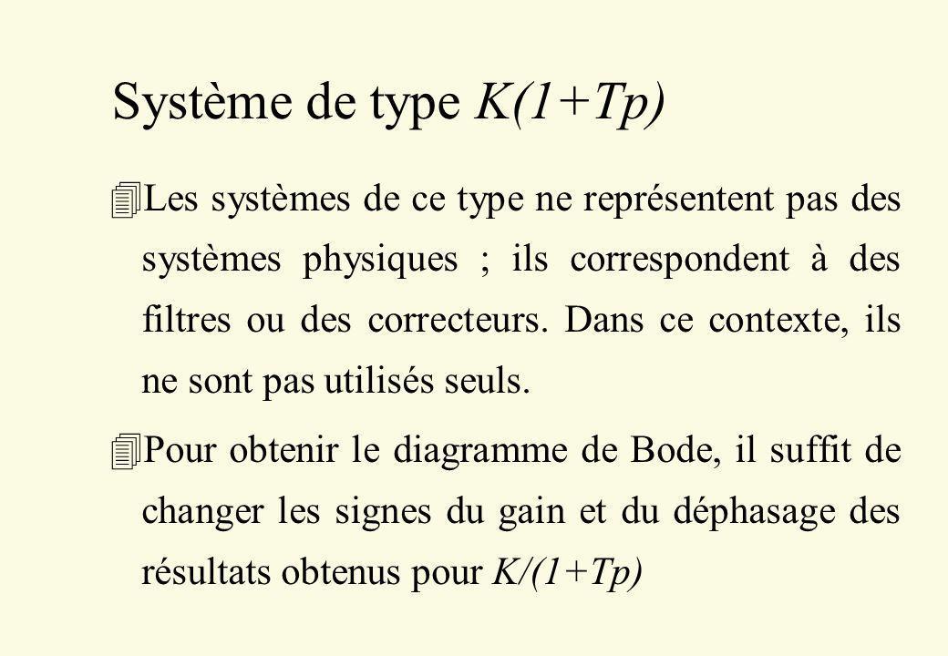 Système de type K(1+Tp)
